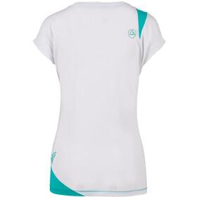 La Sportiva Chimney T-Shirt Femme, white/aqua